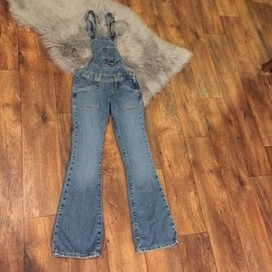 Levi's Overalls O Ring Back Superlow Flare